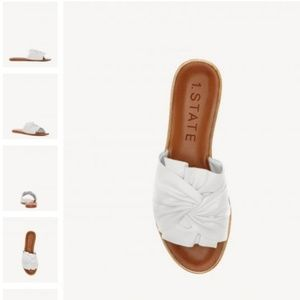 NEW Chevonn 1.State White Knot Twist Sandal 8
